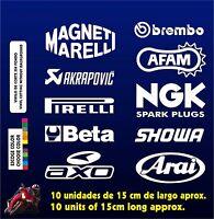 10 X PEGATINAS -STICKER- VINILO - PACK - Moto Sponsor -Pegatina - Aufkleber