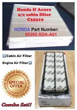 Combo Set For Honda Accord 03-07 & Acura TL 04-06 V6 Engine & Cabin Air Filter
