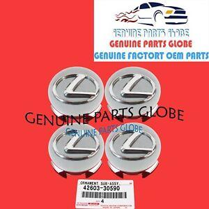 NEW GENUINE OEM LEXUS GS350 IS250 IS350 SC430 WHEEL HUB CENTER CAP SET OF 4