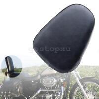 Universal Motorcycle Passenger Leather Sissy Bar Backrest Cushion Pad For Harley