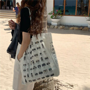 100% Cotton Camera shoes Heavy Duty Large shopping bags Canvas shoulder Tote Bag