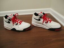 Used Worn Size 13 Nike Air Flight 89 Shoes White Black Red