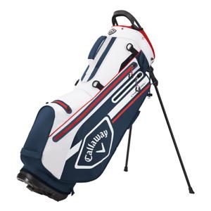 Callaway Golf Chev DRY Waterproof Golf Stand Bag in Navy/White/Red 2021 B/N