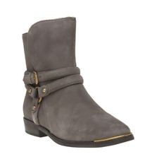 UGG Australia KELBY Mouse Grey Khaki Buckle Detail Boots - BNWT £210 - UK 8.5