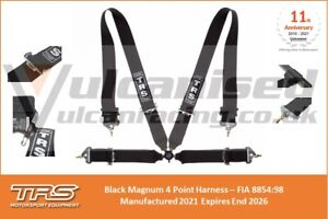 TRS Motorsport Magnum FIA Approved 4 Point Harness Expires 2026 Race Rally