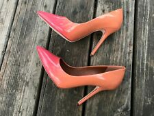 Boutique 9 btsally size 8.5M leather Ombre orange coral red shoes heel: 4.5''