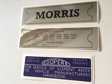 Morris Mini Mk1 Sticker Pack - Oxford Isis Minor MM Moke ADO16 etc