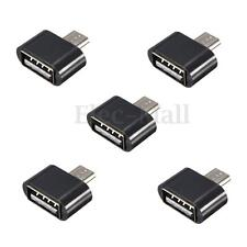 5pcs Mini Micro USB Male to USB 2.0 Female Adapter OTG Converter For Android