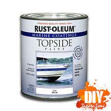 Rust-Oleum Topside Marine Paint Gloss White UV Resistant Wood Fibreglass Metal