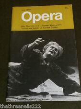 OPERA MAGAZINE - THOMAS ALLEN PROFILE - JULY 1978