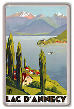 LAKE ANNECY FRANCE VINTAGE FRIDGE MAGNET IMAN NEVERA