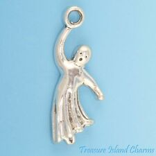 GHOST FLYING 3D HALLOWEEN .925 Solid Sterling Silver Charm