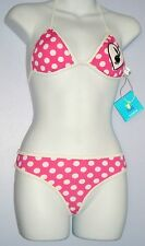 SALE-PLAYBOY THONG SWIMSUIT PINK WITH WHITE POLKA DOTS small