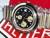 Heuer EXECUTIVE Chronograph - Goldplated - Excellent !!