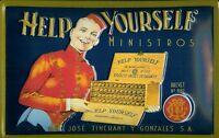 Help Yourself Ministros Zigarren Blechschild Schild Blech Tin Sign 20 x 30 cm