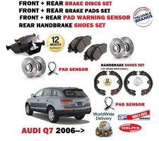 para AUDI Q7 2006- > delante + Juego freno disco trasero + discos+ Zapato+