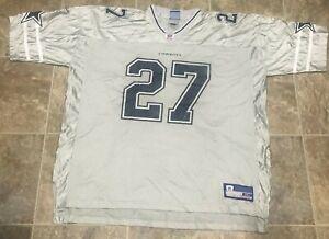 Vtg 90's Reebok Dallas Cowboys Eddie George #27 GRAY Jersey  Adult 3XL XXXL RARE