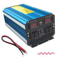 3500W/7000W Digital Display Pure Sine Wave power inverter DC 12V TO AC 230V NEW