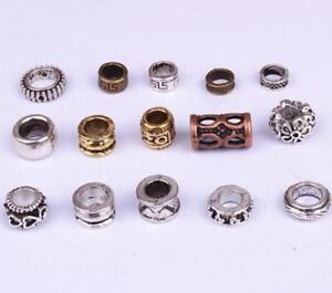 15 PCs Tibetan style Metal Beads Dreadlock Beads DIY accessories 5-8mm hole