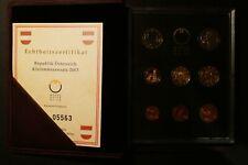 EURO KMS ÖSTERREICH 2003 PP Polierte Platte Austria Kursmünzensatz Coin Set