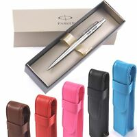 Personalised Engraved Parker Jotter Steel Ball Point Pen & Pen Case
