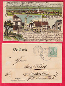 Gruß aus Dietenheim (Alb-Donaukreis), Mehrbild Farb-Litho 1904 gelaufen, sehr gu