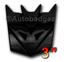"1 - NEW Black Transformers DECEPTICONS badge emblem (3"" GLOSS BLACK)"