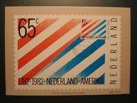 """Niederlande 1982:MK maximum card """"Beziehungen m.d. Vereinigten Staaten"""", MN 1208"""