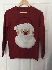 George Red Unisex Christmas Santa Jumper 12-13 Years