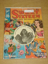 SWEET SIXTEEN #4 G (2.0) ELIZABETH TAYLOR PARENTS MAGAZINE INSTITUTE 1947