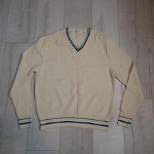 cd12dada1759a9 Vtg 1970s Yves Saint Laurent Merino Wool Activewear Sweater Sz xl top v  neck fa