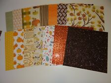 FALL AUTUMN SCRAPBOOK PAPER 6X6 STACK CARD MAKING CRAFTS LOT