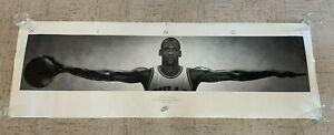 ORIGINAL 1989 Michael Jordan 'WINGS' Nike Basketball Bulls Poster! 24 x 76!