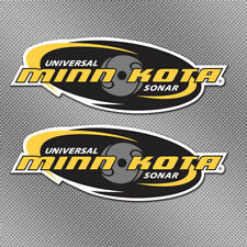 "2x Minn Kota 6"" Full Color Stickers Decal Fishing Boat Bait Lure Tackle Box Reel"