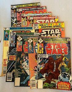 Lot of (10) Marvel Comics Star Wars Low-Medium Grade Bronze Age 1978-1983
