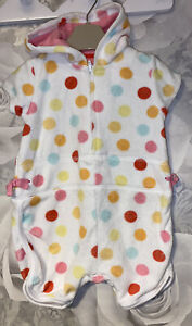 Girls Age 0-3 Months - All In One Towelling Romper - Mothercare