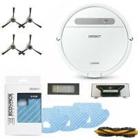 Ecovacs DEEBOT OZMO 610 Robotic Vacuum & Mop Cleaner with Accessory Value Pack