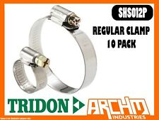 TRIDON SHS012P - REGULAR CLAMP HOSE 10 PACK 18MM-32MM SOLID BAND PART STAINLESS