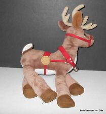 Hallmark Warner Brothers Polar Express PE Reindeer stuffed Plush Christmas Toy