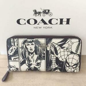 NEW Marvel Comic Wallet  Collaboration with Coach Spider-Man free ship japan