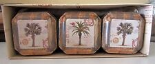 Tropical Candle Set~3 Tin Candles In Decorative Box~Perfect Gift~Travel Candles