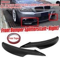 For 2009-2012 BMW E90 E91 335i 328i LCI M Tech Front Bumper Lip Splitter NEW!