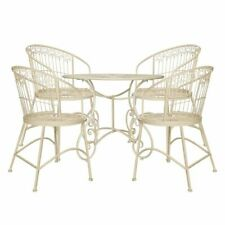 Cream Heart Scrolled 4 Seater Outdoor Dining Set Autumn Garden CLEARANCE SALE