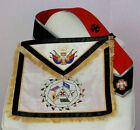 Masonic Scottish Rite 32 Degree Master of the Royal Secret regalia Apron + sash