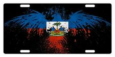 HAITI Flag Custom License Plate Haitian Creole Emblem EAGLE Version