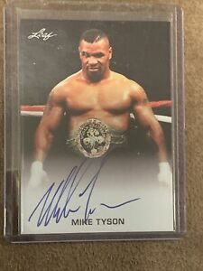 Mike Tyson Signed Leaf Trading Card #FE-MT1 Authentic Auto