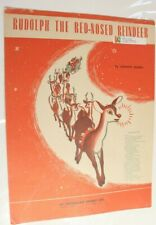 Rudolph The Red Nosed Reindeer Vintage Sheet Music 1949 Christmas
