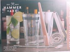 Hammer & Axe 7 Piece Classic Mixology, Complete Bar Mixing Set New