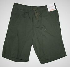 New Gymboree Boys Desert Explorer Line Olive Green Pull On Shorts 7 year NWT
