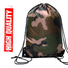 Waterproof Gym Bag Sport Fitness Camouflage Drawstring Outdoor Camping Backpack